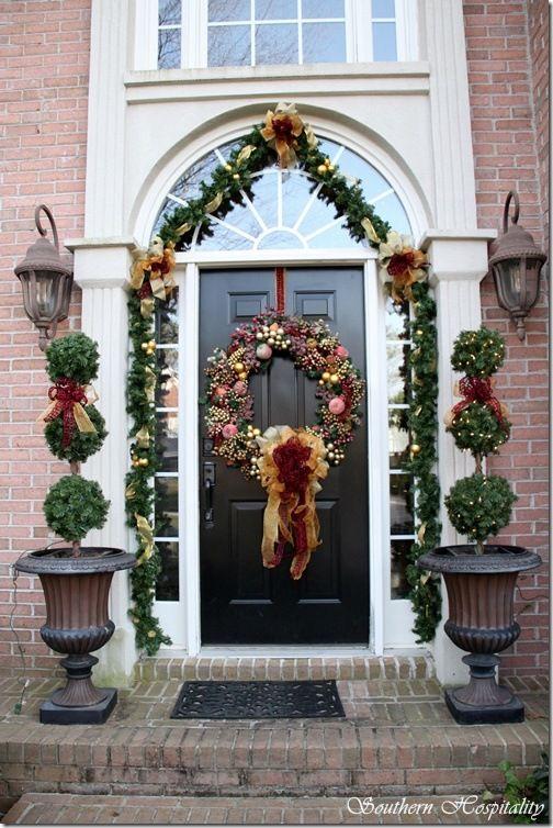 Front door christmas wreaths pinterest for Front door xmas wreaths