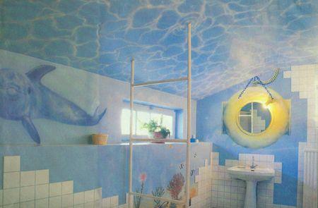 trompe l oeil decor mural fond marin 2 trompe l oeil et peinture mu