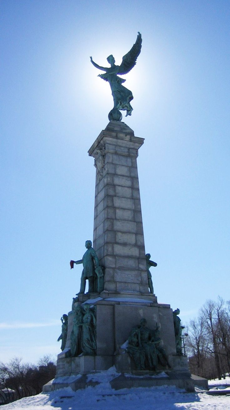 Athena Statue on Mont-Royal Park, Montreal