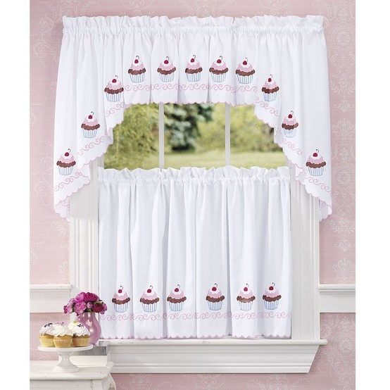 Cupcake Curtains Operation Home Pinterest