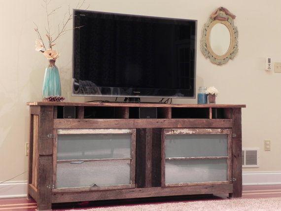 barnwood entertainment center roscher collection. Black Bedroom Furniture Sets. Home Design Ideas