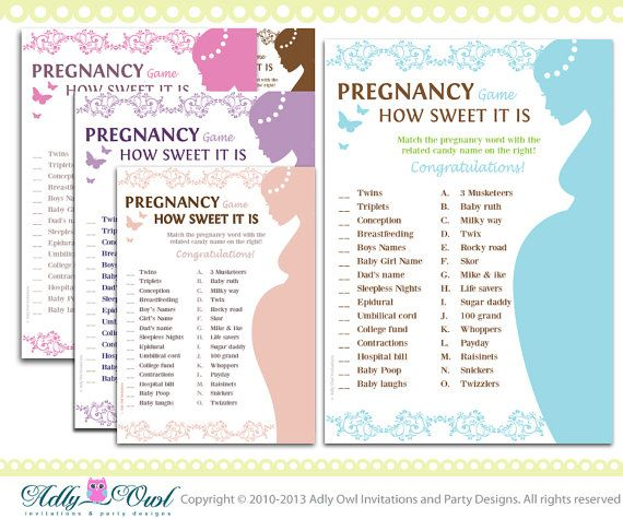 baby shower game pregnancy how sweet it is match a candy game in soft