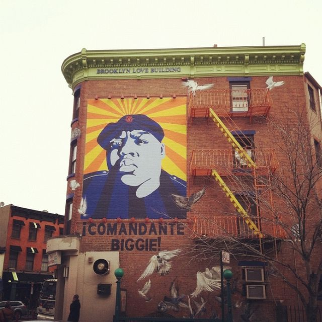 Biggie smalls mural in fort green where im from pinterest for Biggie smalls mural brooklyn