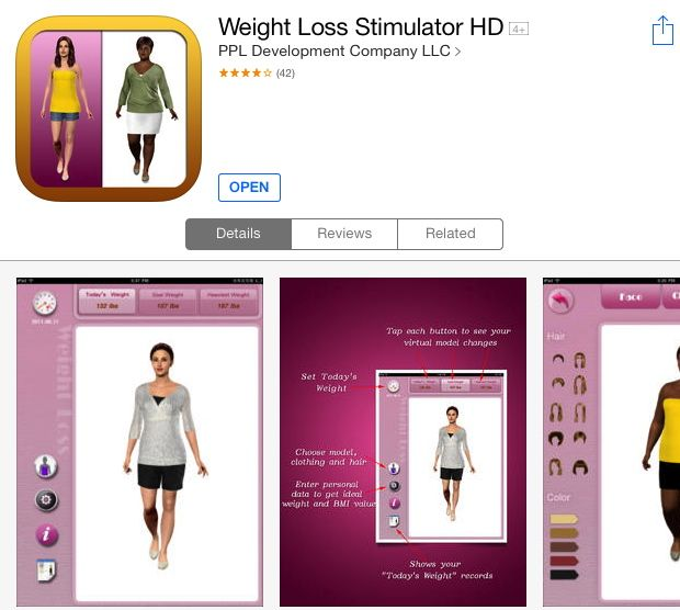 Weight loss app for ipad