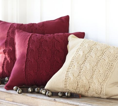 Cable-Knit Pillow Covers | Pottery Barn