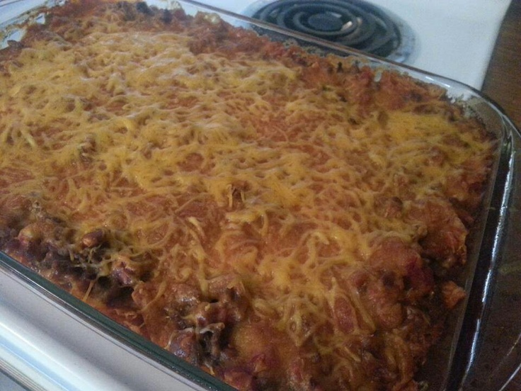 Super awesome easy Mexican casserole | Taco Tuesday | Pinterest