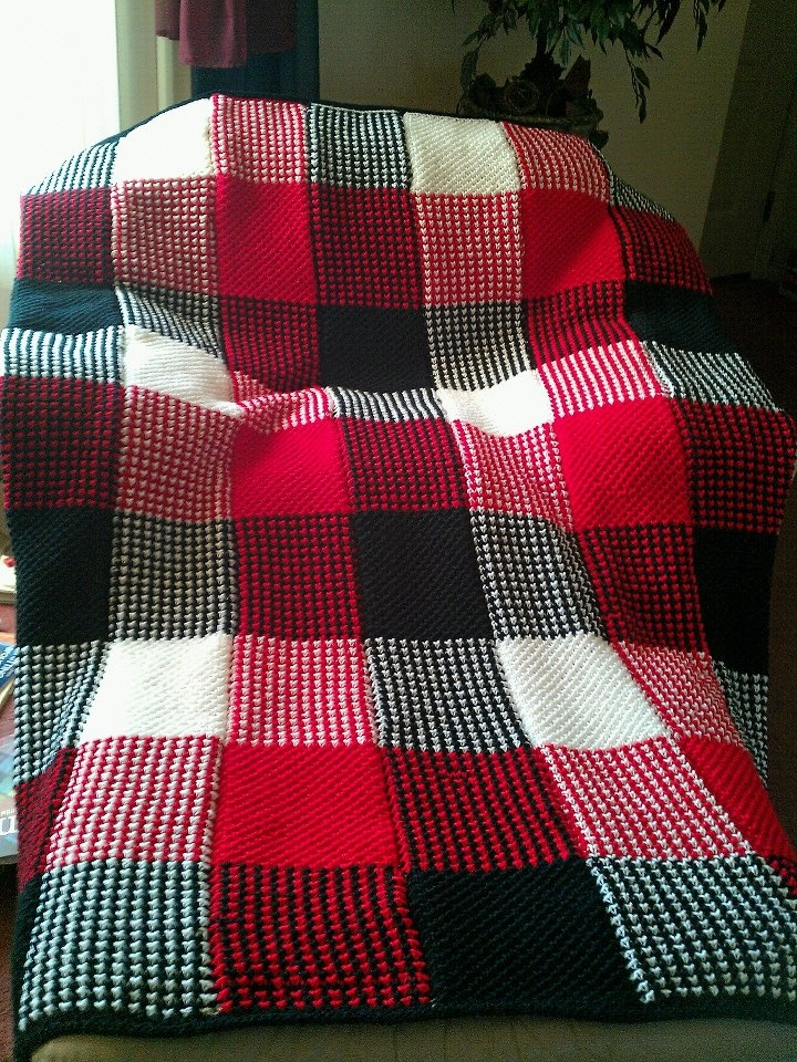Crochet Pattern Plaid Afghan : Plaid Afghan Crochet patterns to try! Pinterest