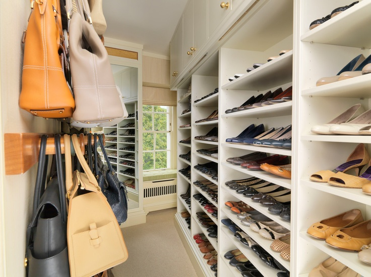 Walk in Closet with storage for Shoes and Handbags - traditional