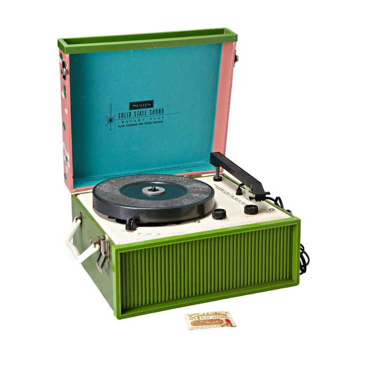 Fossil Portable Record Player Vintage Inspiration