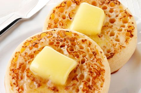 English crumpets with butter - Tesco Real Food