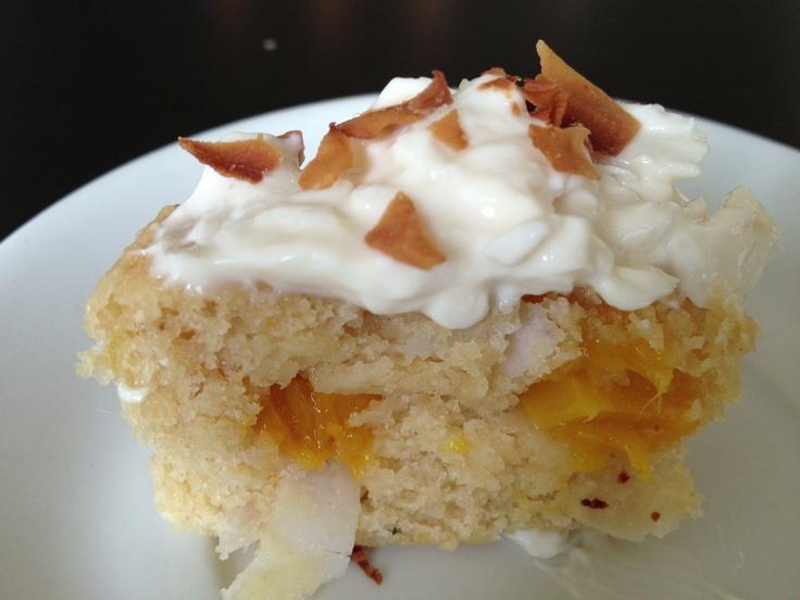 Skinny coconut mango cupcakes   Healthy dessert   Pinterest