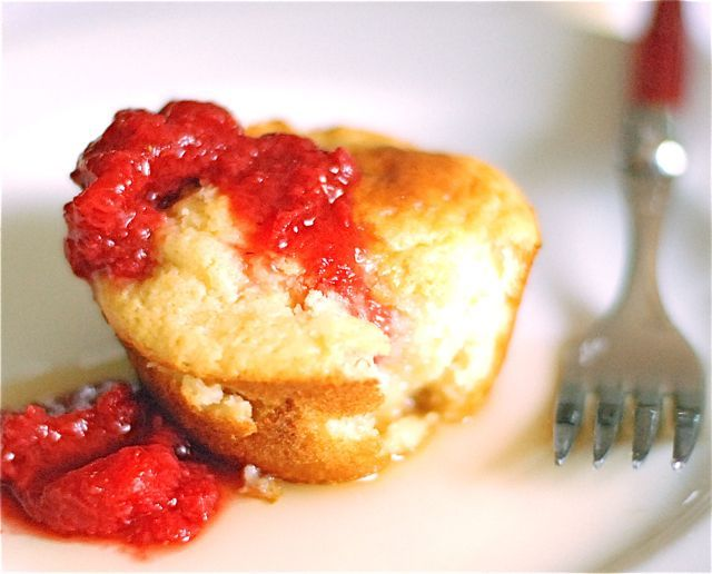 Pancake Souffle Muffins With Strawberry-Maple Syrup Recipes ...