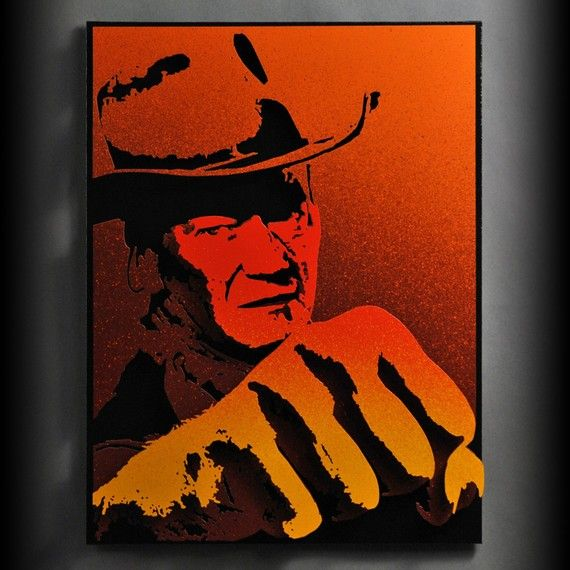John Wayne Metal Art Silhouettes for Pinterest