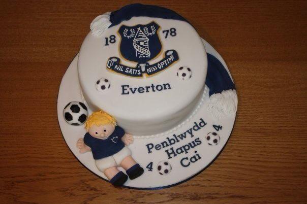 Everton cake  Cakes by moi!  Pinterest