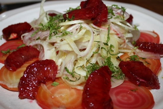 Beet, blood orange and fennel salad | food | Pinterest