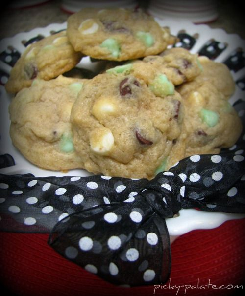 Picky Palate - Intimint chocolate chip cookies. I love mint, so I ...