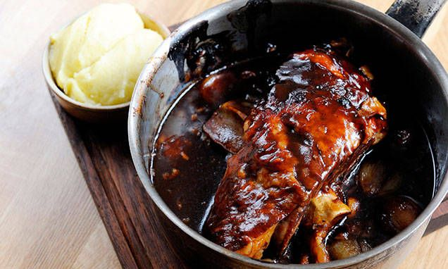 slow-braised shoulder of lamb with onions, thyme and balsamic vinegar ...