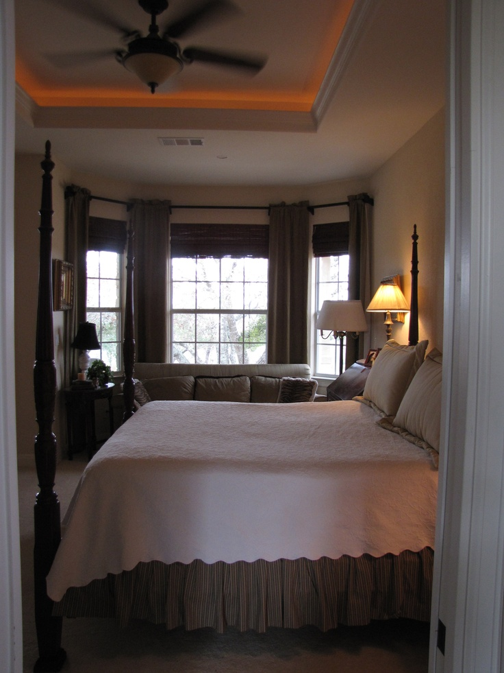 Master Bedroom Tray Ceiling W Rope Lighting House Projects A