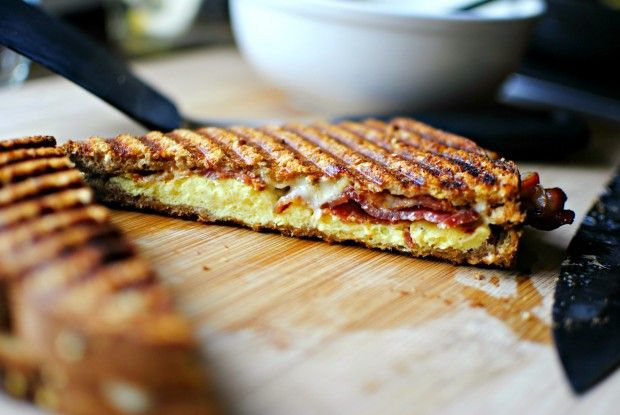 Bacon and Eggs Breakfast Panini, great idea for breakfast. Must try :)