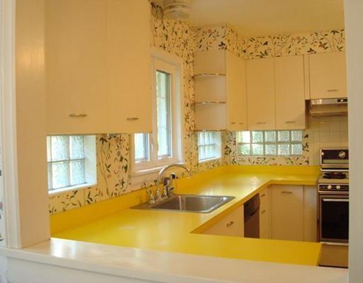 vintage kitchen with yellow countertops vintage kitchen pinterest