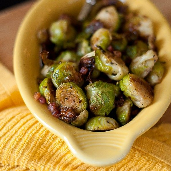 Roasted Brussells Sprouts with Pancetta | Gluten Free Food | Pinterest