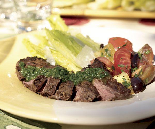Herb-Marinated Skirt Steaks | Recipe