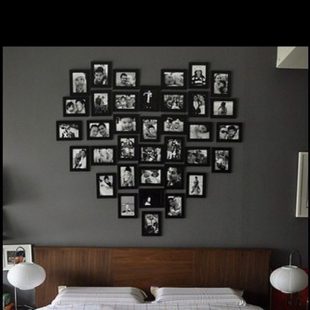 Photo Frame Wall Arrangement Idea Photo Decor Pinterest