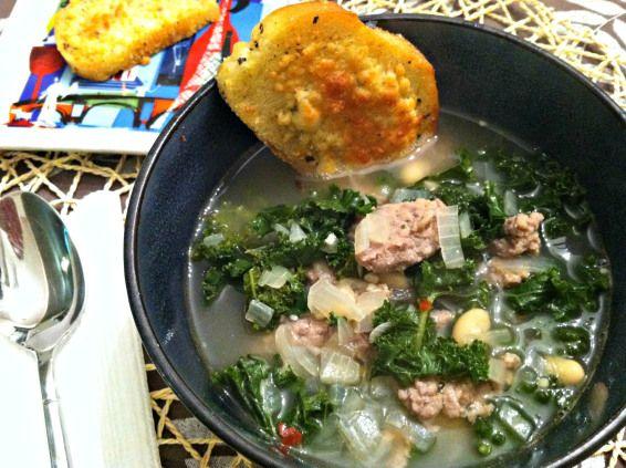 Turkey Sausage, Kale and White Bean Soup | Savory Goodness | Pinterest