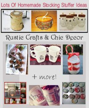 Homemade Stocking Stuffer Ideas Diy Boards Pinterest