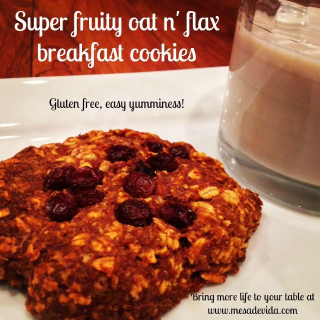 Super fruity oat n' flax breakfast cookies! These are gluten free ...