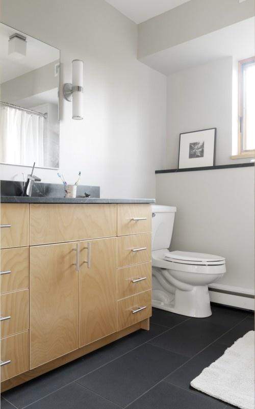 Slate Bathroom Floor Tile Bathrooms Pinterest