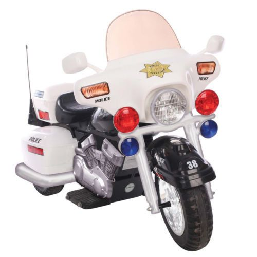 Big Boy Toys Police : Police patrol battery powered electric kids cop motorcycle