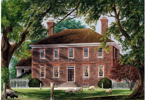 Colonial Plantation Traditional House Plan 86328