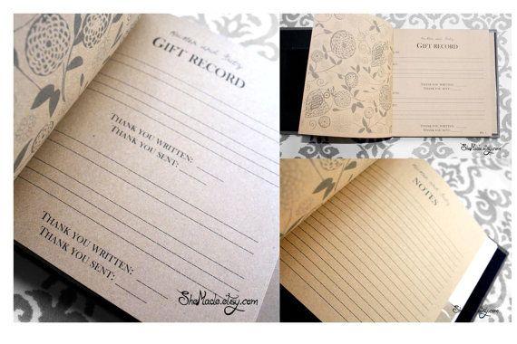 Wedding Gift Log : Custom Gift Log book, perfect for bridal showers, weddings, baby show ...
