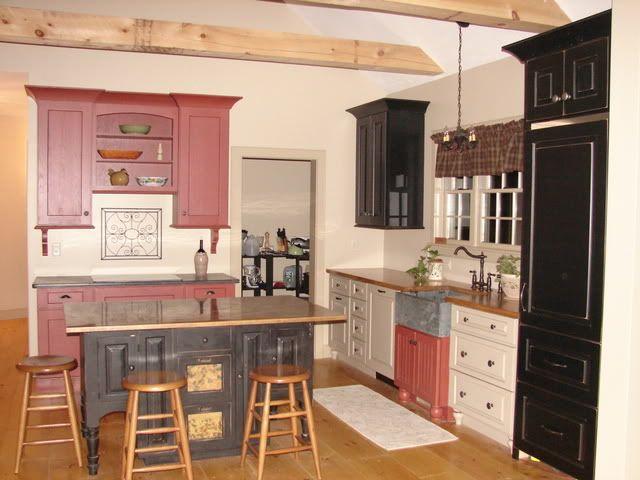 Photobucket bathroom bi color kitchen cabinets pinterest for Bi colored kitchen cabinets
