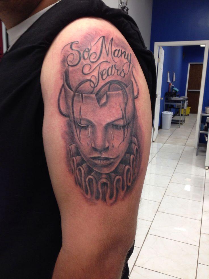 Sad Face Tattoo My Work Black N Gray Tattoos Pinterest