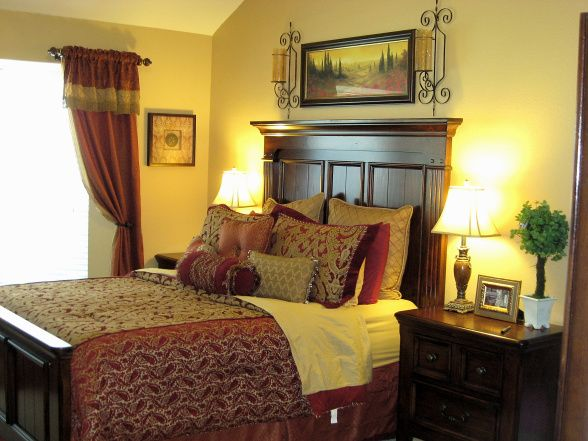 Red And Gold Bedroom Again Home Pinterest