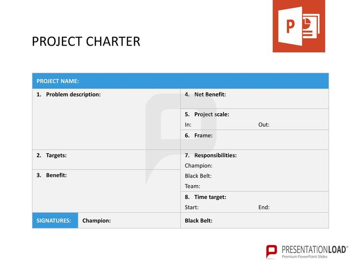 Project Charter Template Ppt Image Gallery - Hcpr