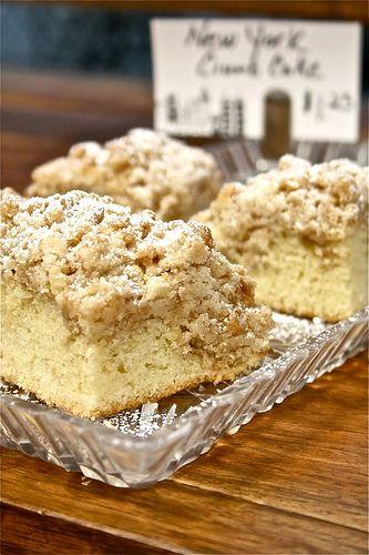 New York Crumb Cake! YUM #cake #Recipe | Bar Desserts | Pinterest