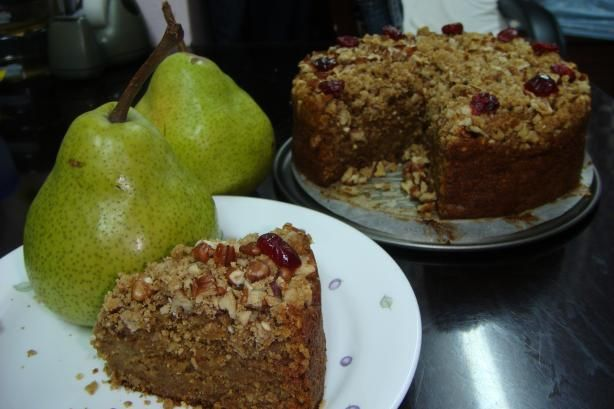 Pear Coffee Cake with Ginger Pecan Crunch Topping from Food.com ...