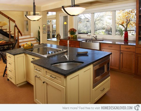15 functional kitchen island with sink bussiness pinterest - Functional kitchen island with sink ...