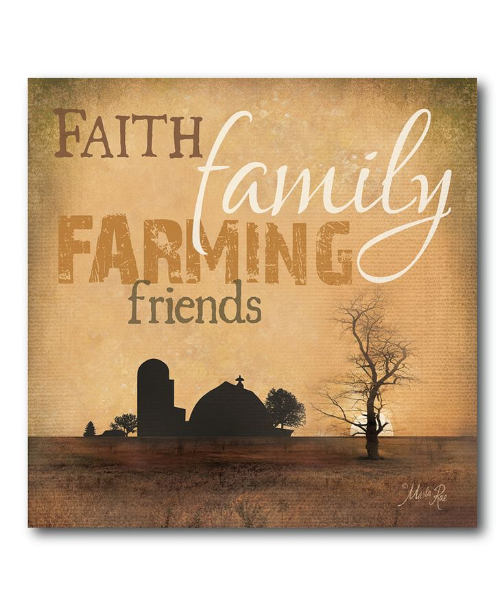 'Faith Family Farming' Canvas Wall Art | Daily deals for moms, babies and kids