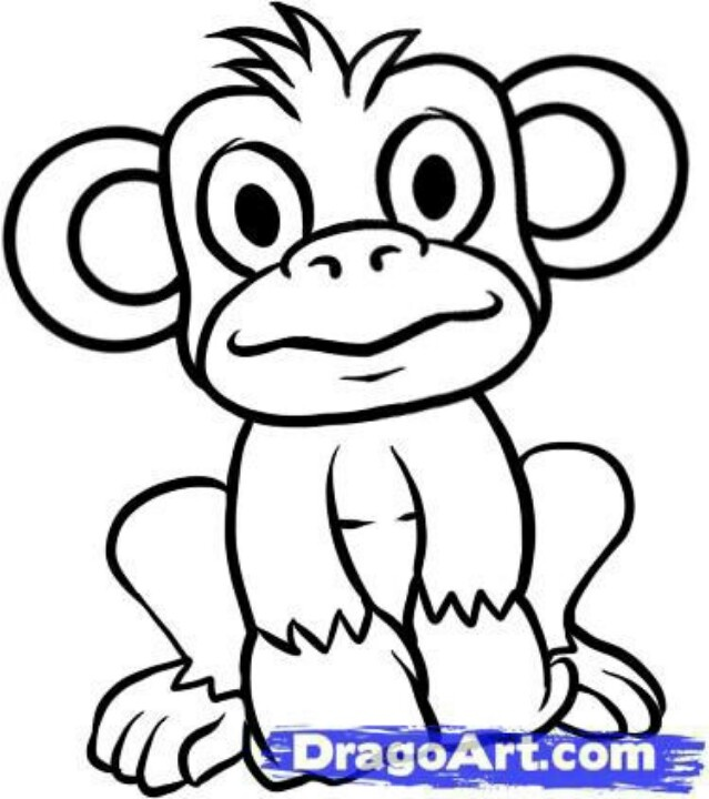 Cute Baby Monkey Drawing How to Draw Baby Monkey