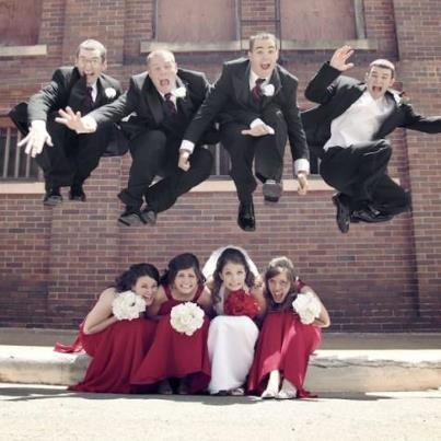 AWESOME FUN wedding pic by Alex M Photography
