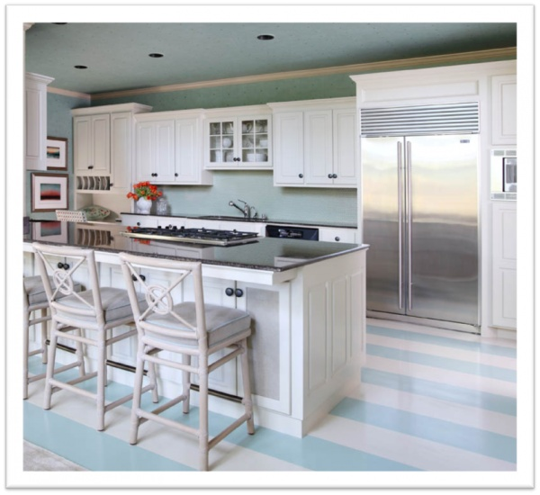 Cottage Kitchen Flooring Continued: Beach House Kitchen! Floor Wow!!