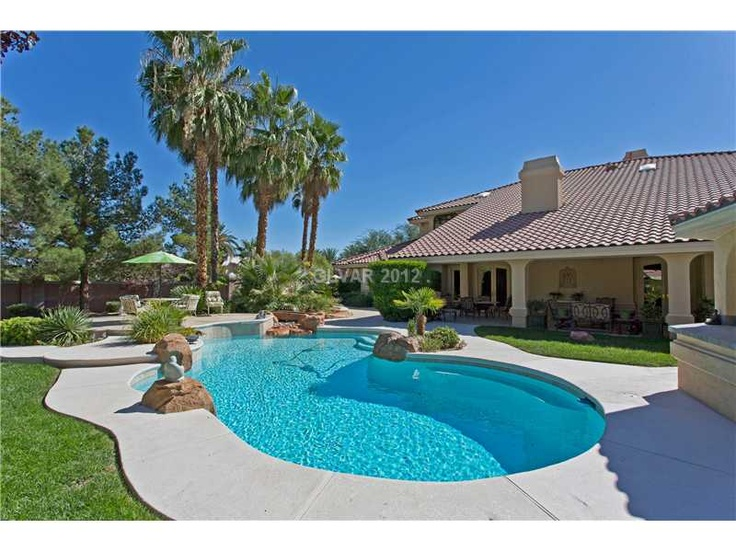 Pin by jeff mix on las vegas pool homes pinterest for Homes for sale in las vegas with a pool