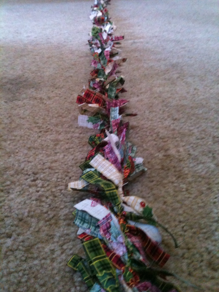 homemade christmas garland christmas pinterest