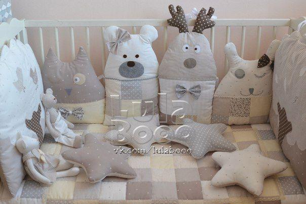 Бортики подушки в кроватку выкройки с размерами