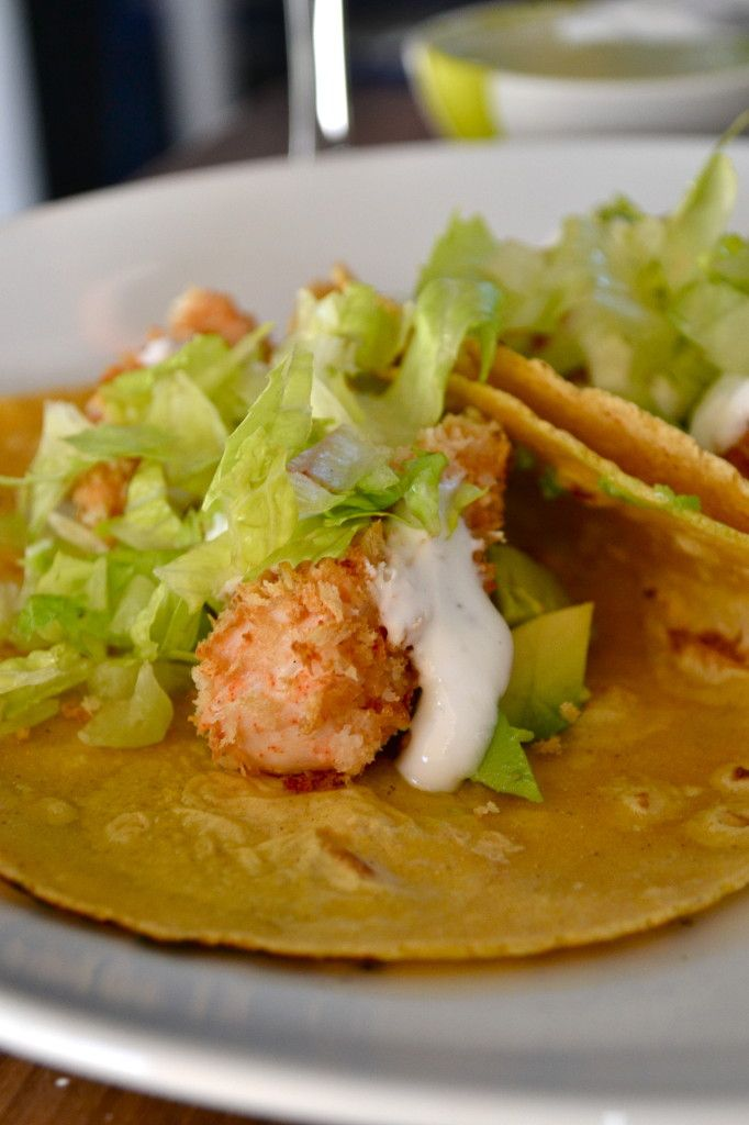 Baked Mahi Mahi Tacos w/ Lime Crema | And that's what's for dinner to...