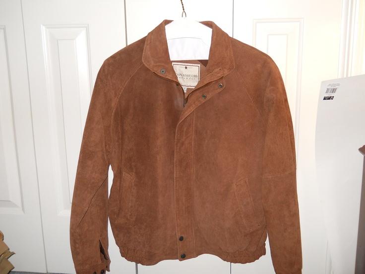 Ashworth Suede leather jacket mens medium